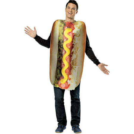 Get Real Loaded Hot Dog Adult Halloween Costume - One - Hotdog Sandwich Halloween