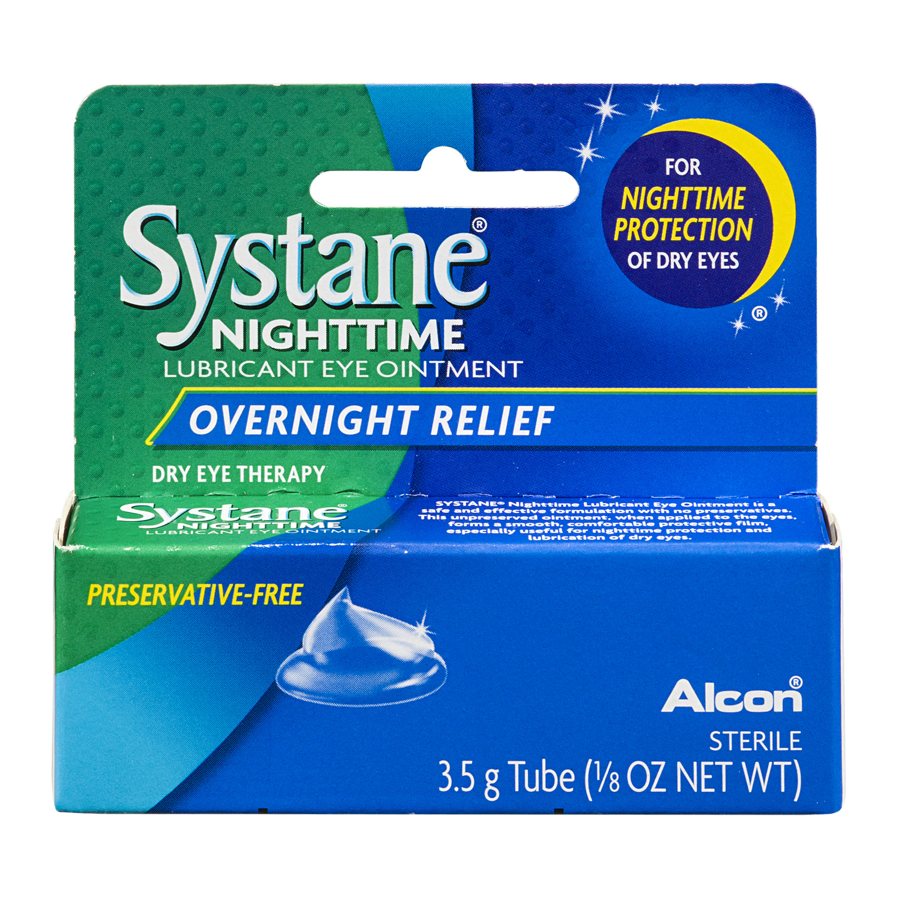 Systane Nighttime Lubricant Eye Ointment Overnight Relief, 0.125 FL OZ