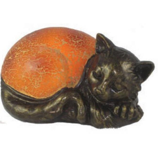 Standard Specialty 1832 Mosaic Amber Sleeping Cat Lamp