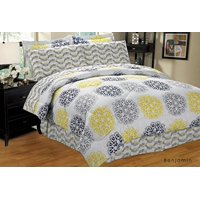Ultra Soft 8 PC Reversible Bed in a Bag Comforter Set(Full, Benjamin)