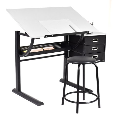 Costway Drafting Table Art Amp Craft Drawing Desk Art Hobby