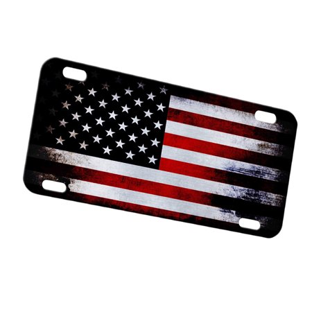 Personalized Car Tags (KuzmarK Automobile Car Tag License Plate -  American Flag)