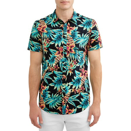 George Young Mens Short Sleeve Printed Shirt, up to Size 3XL