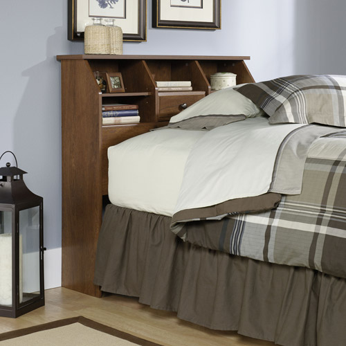 Sauder Shoal Creek Collection Twin Bookcase Headboard, Oak