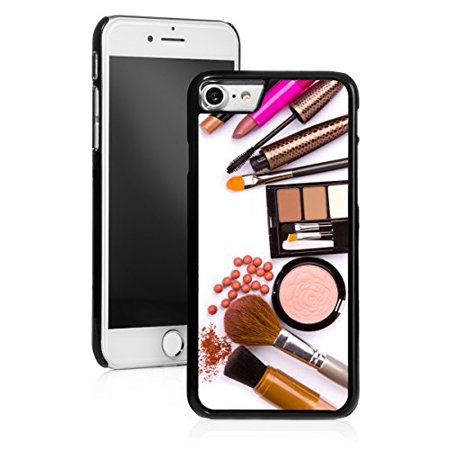 finest selection db378 635c5 For Apple iPhone Hard Back Case Cover Makeup Brush Cosmetics (Black for  iPhone 8)