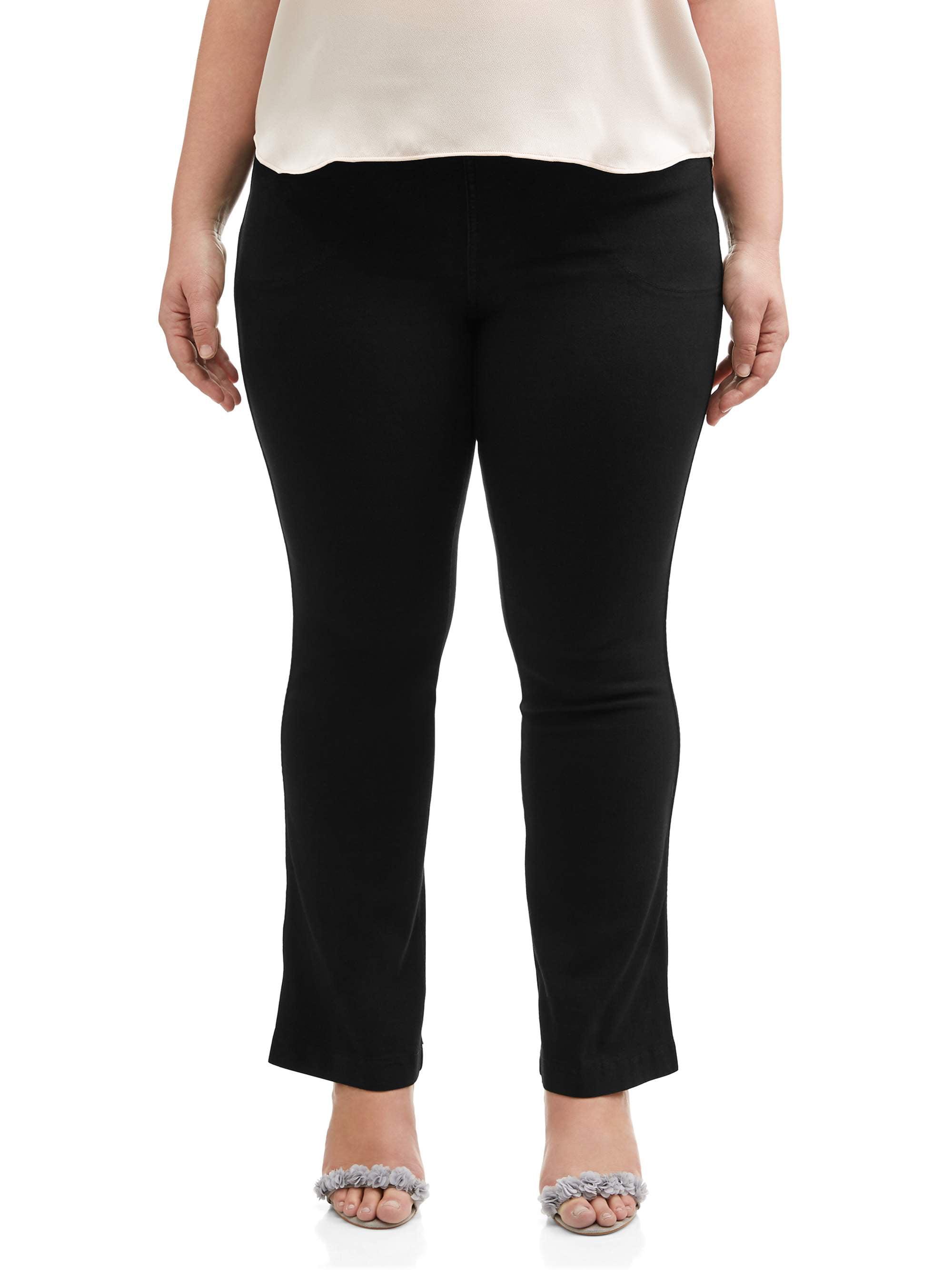 Petite Length 3X Medium Stone JUST MY SIZE Womens 4-Pocket Bootcut Jeans