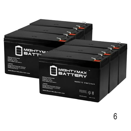 12V 7.2AH SLA Battery for Marcum VX-1Pro - 6 Pack