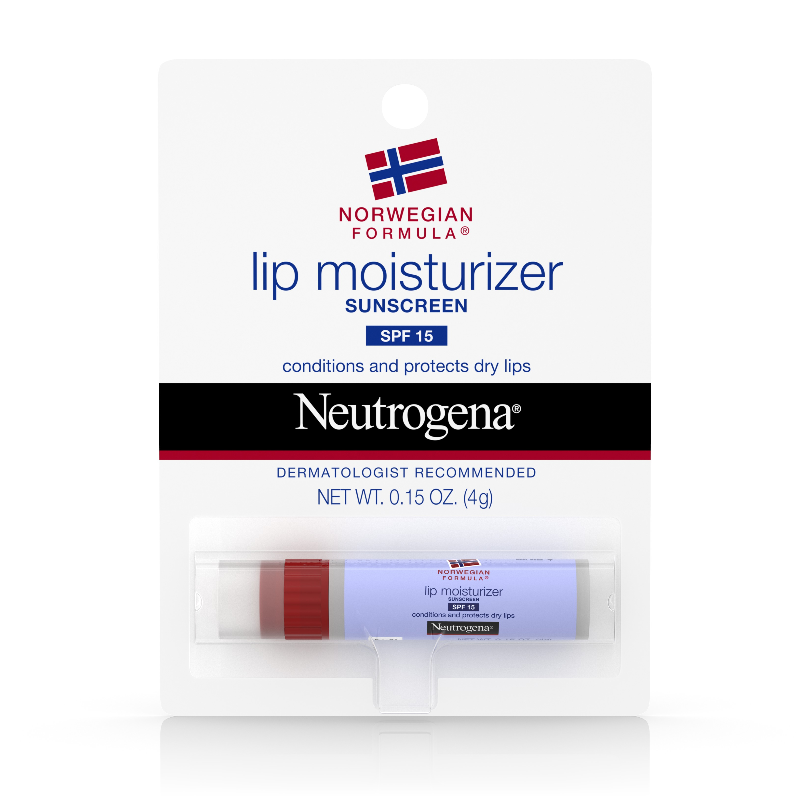 Neutrogena Norwegian Formula Lip Moisturizer With Sunscreen, Spf 15, .15 Oz. - Walmart.com