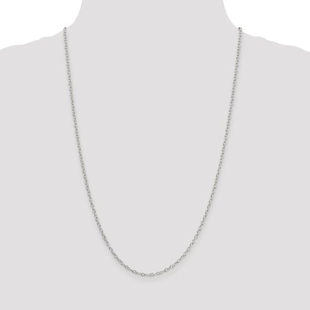 925 Sterling Silver 2.25mm Oval Cable Chain 24 Inch - image 1 of 5
