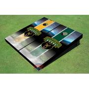 Baylor University Bear Head Field Long Strip Alternating Themed Cornhole Boards