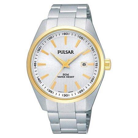 - Pulsar Stainless Steel Silver Dial Quartz Mens Watch PH9024X