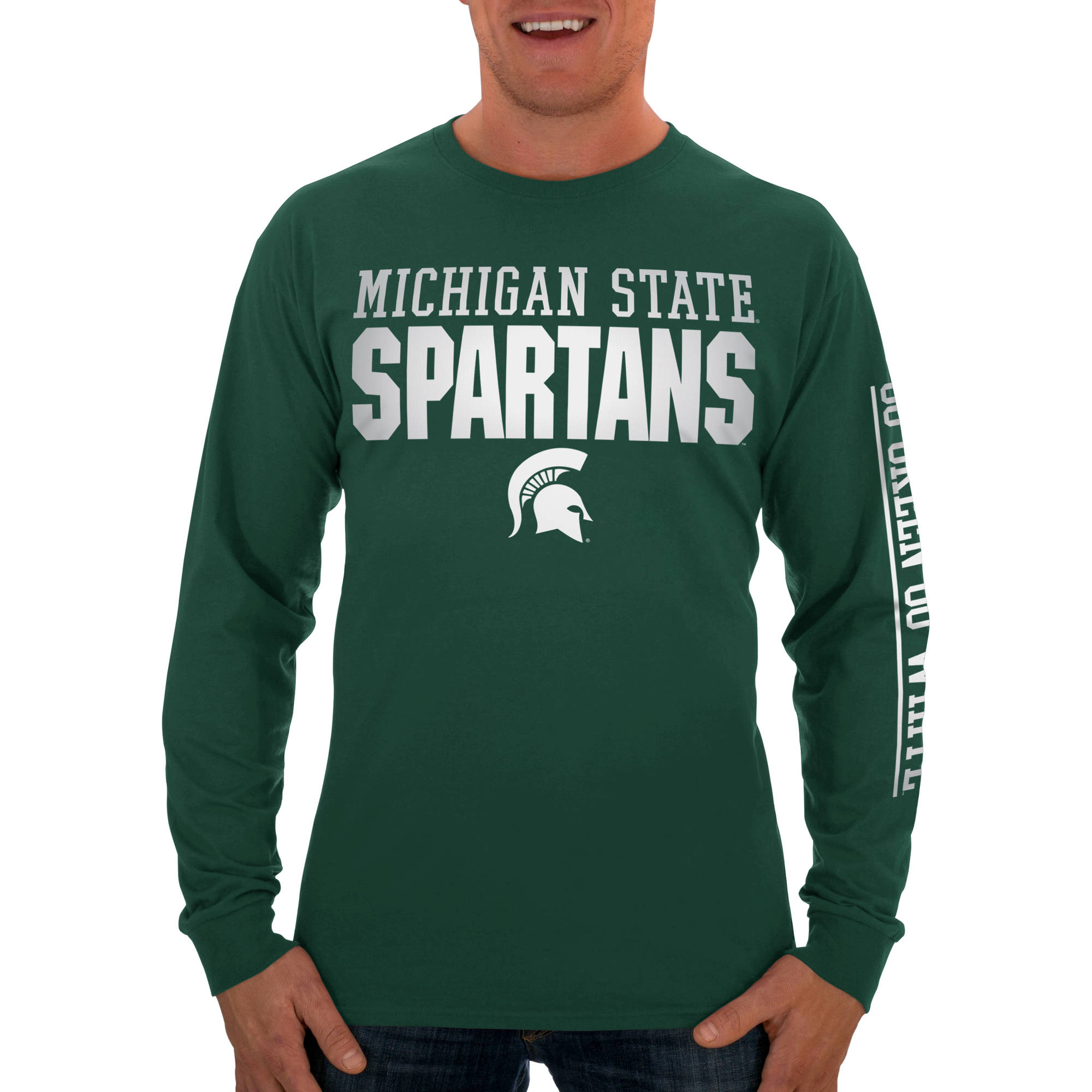 Russell NCAA Michigan State Spartans Big Men's Long  T-Shirt