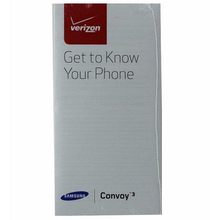 Oem verizon samsung convoy 4 manual / consumer info / product.