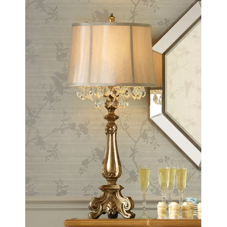 Barnes And Ivy Traditional Console Table Lamp Antique Gold