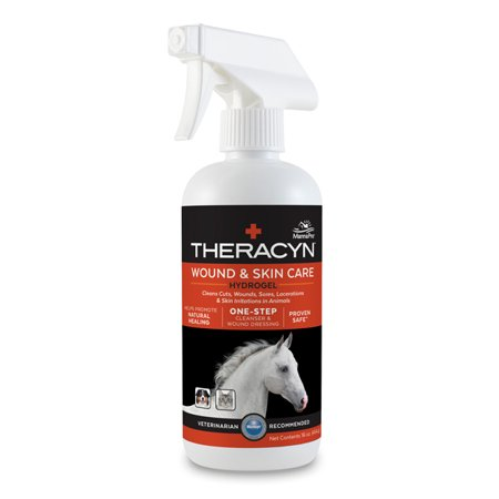 Manna Pro Theracyn Wound and Skin Care Hydrogel for Horses, 16 oz. (Horse Hoof Stand)