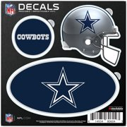 Dallas Cowboys Repositionable 3-Pack Decal Set