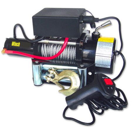 Hiltex 9500lb 12V Electric Winch Recovery Remote Controlled Front Mount Winch