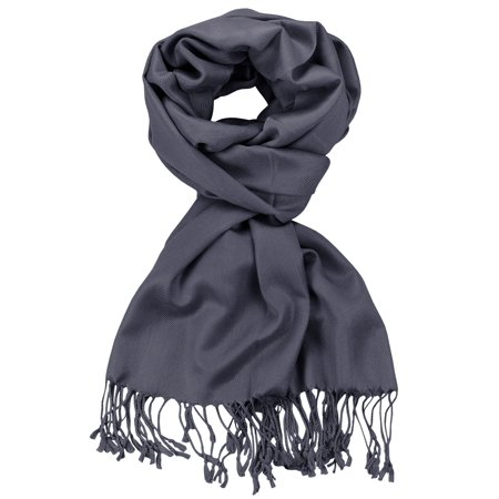 NYFASHION101 Women's Fabulous Plus Size Soft Pashmina Viscose Scarf Shawl Wrap, Smoking Grey #36 - Purple Pumpkin