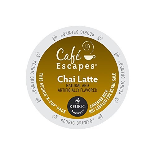 Chai Latte K-Cups, 96 Count by Cafe Escapes