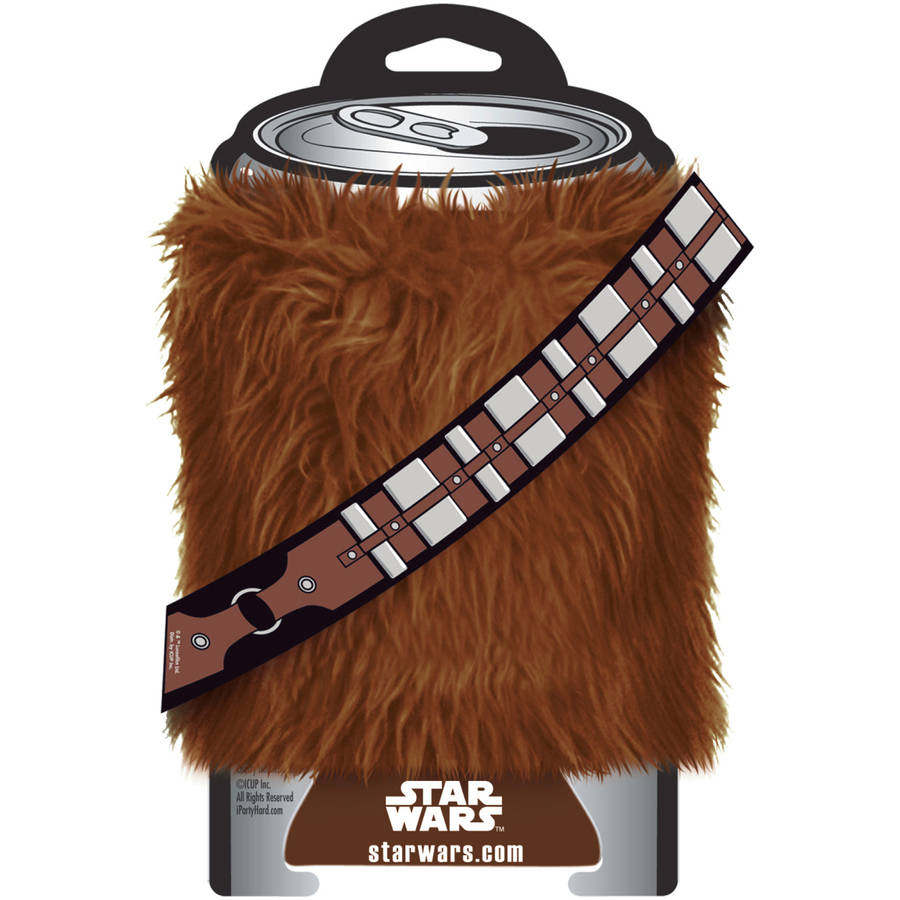 ICUP Star Wars Chewbacca Fur Huggie/Koozie, Clear