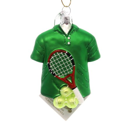 Noble Gems TENNIS OUTFIT Glass Racket Balls Nb1333