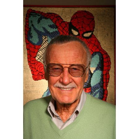 Stan Musial Signed Photo - Higher Fees Apply Stan Lee Posing For A Portrait For Exclusive Portraits Stan Lee Photographed With Spider Man Memorabilia In His Office Beverly Hills Ca March 28 2008 Photo By Zach CordnerEverett Col