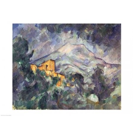 86a726311f5f Posterazzi Montagne Sainte-Victoire and the Black Chateau Canvas Art - Paul  Cezanne (36 x 24) - Walmart.com