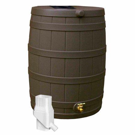 Rain Wizard 50 Diverter Kit, Oak (Best Rain Barrel Diverter Kit)