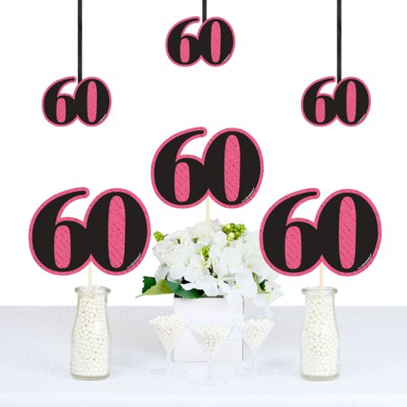 Chic 60th Birthday - Decorations DIY Party Essentials - Set of 20