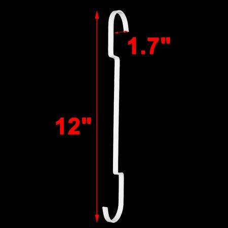 Apartment Metal Clothes Coat Towel Bag Hat Holder Hanging Hanger Hook White 5pcs - image 3 of 4