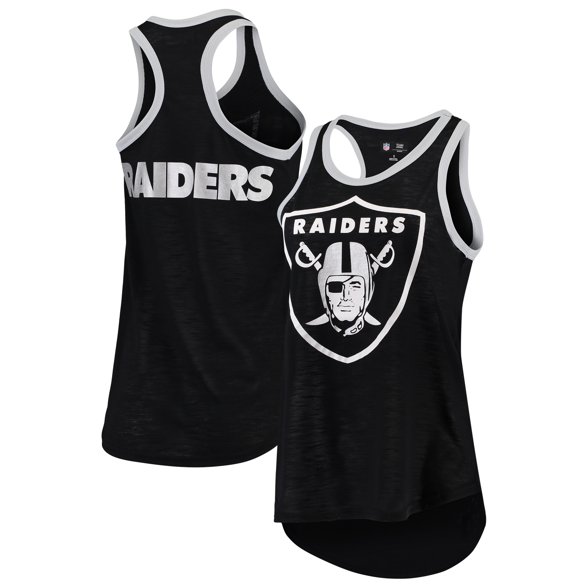 Oakland Raiders G-III 4Her by Carl Banks Women's Tater Tank Top - Black