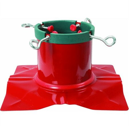 Extreme Heavy Duty Red Steel Christmas Tree Stand - For Live Trees Up To 9' (Best Live Christmas Tree Stand)