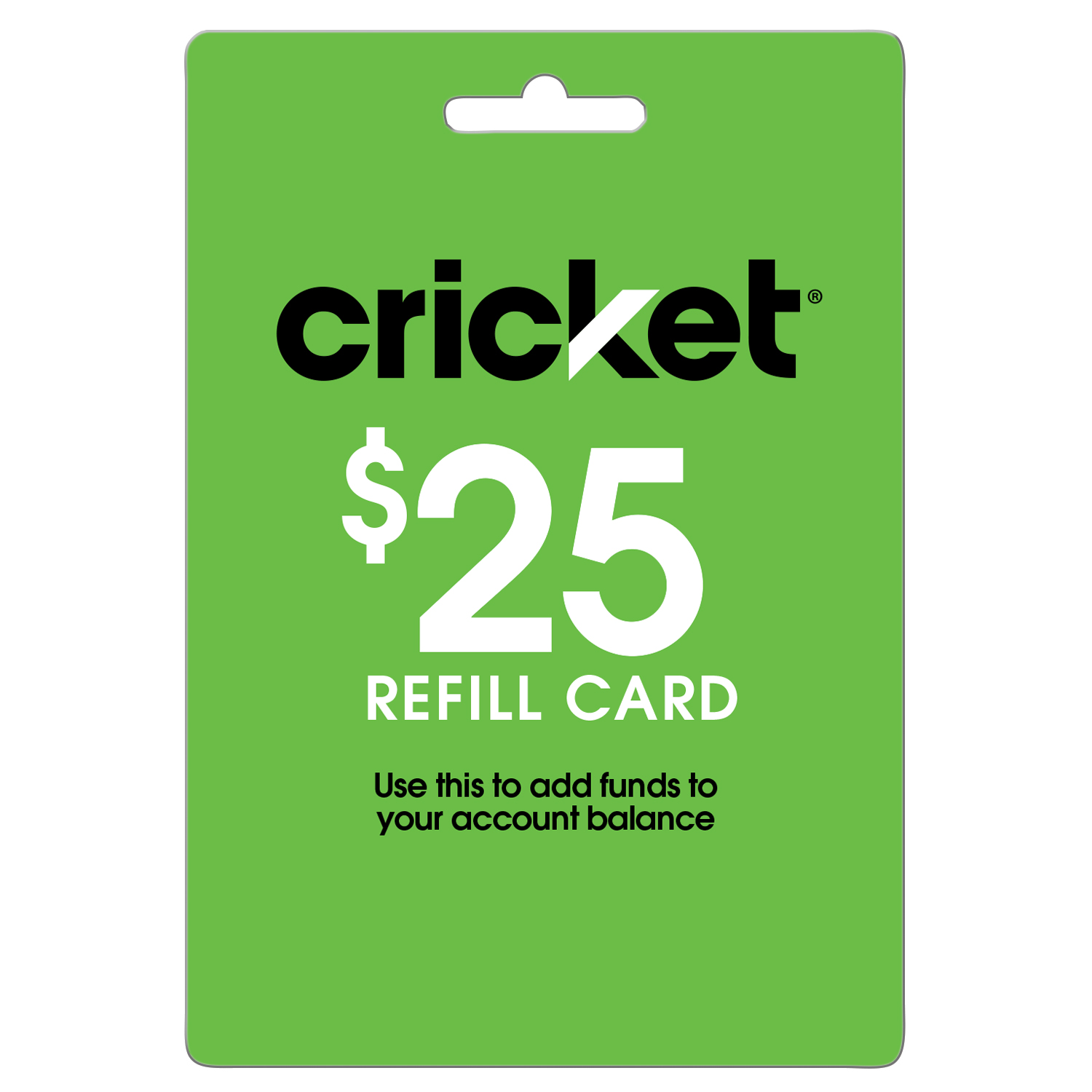 Cricket Wireless $25 (Email Delivery)