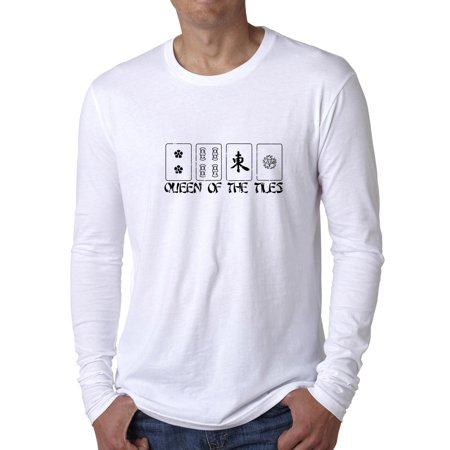 Queen of the Tiles - Mahjong Queen - Chinese Game Men's Long Sleeve T-Shirt