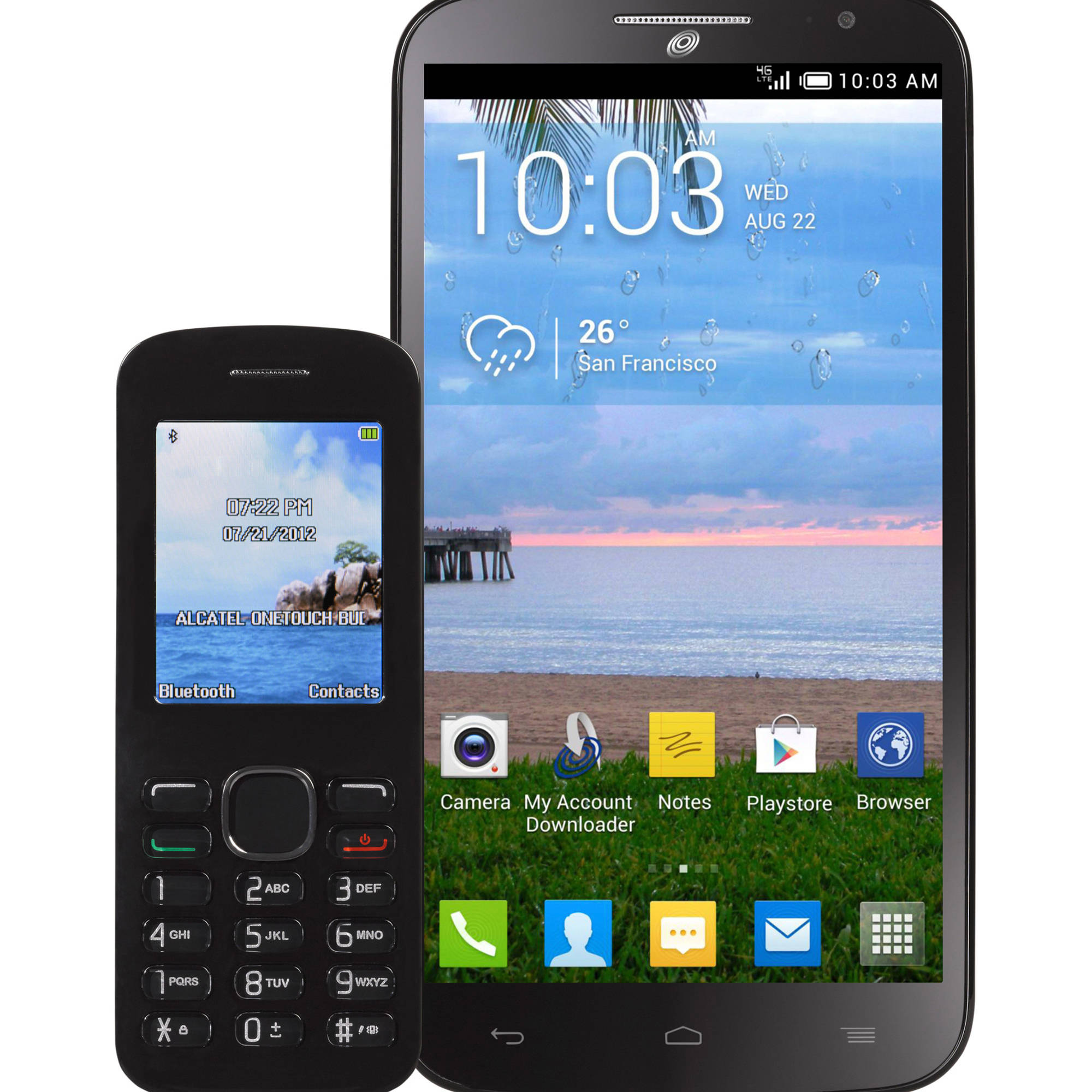 Straight Talk Alcatel Pop Mega Android Prepaid Smartphone