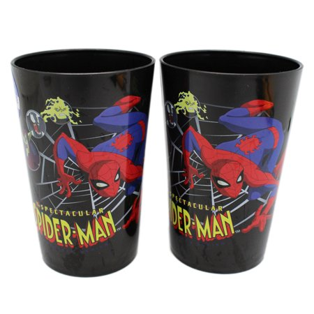 Marvel's Spectacular Spider-Man Kids Small Black Colored Drink Cups (2pc) - Small Black Spider