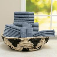 Baltic Linen 100% Cotton 24-Piece Cotton Bath Towel Set