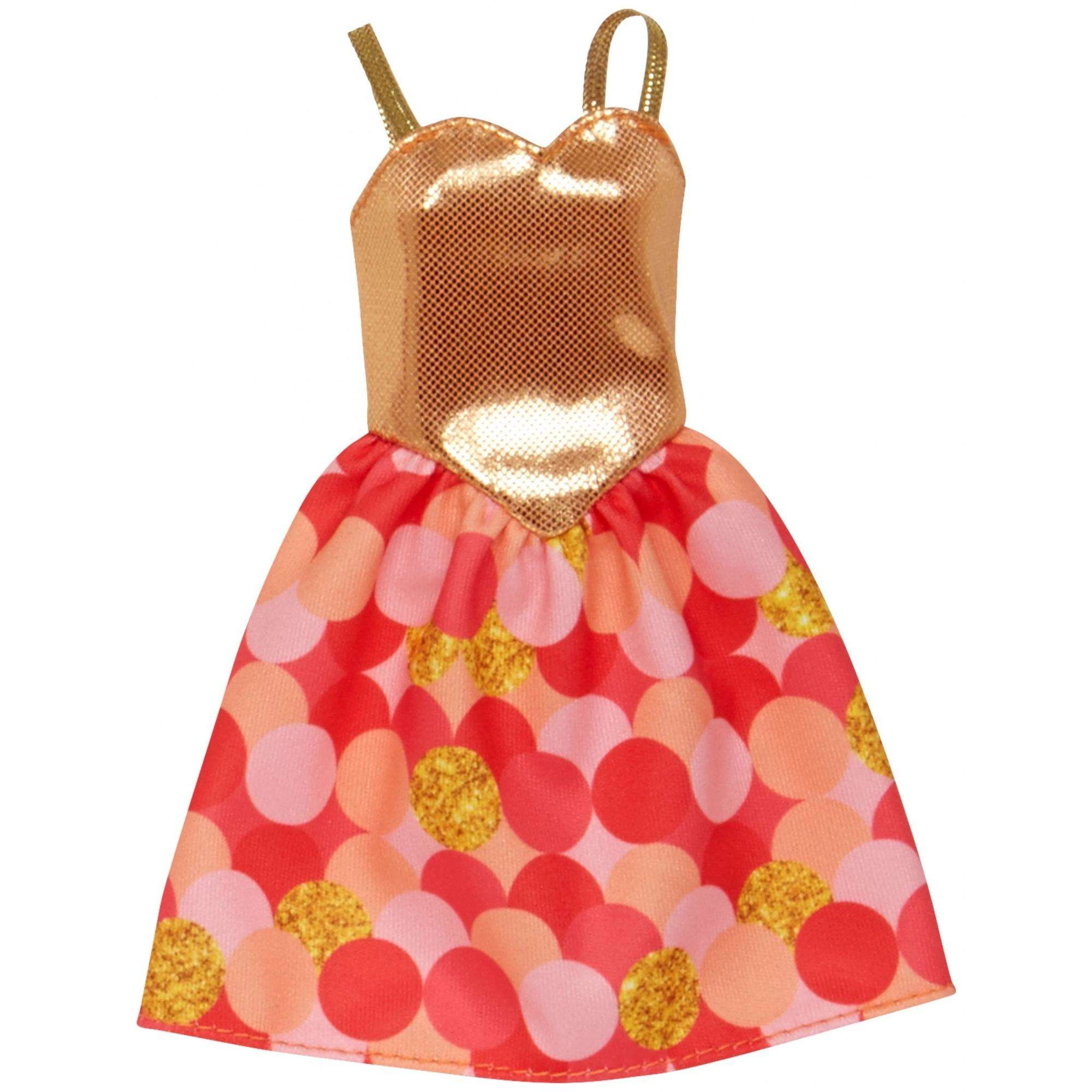 Barbie Trendy Gold Fashion Dress 13