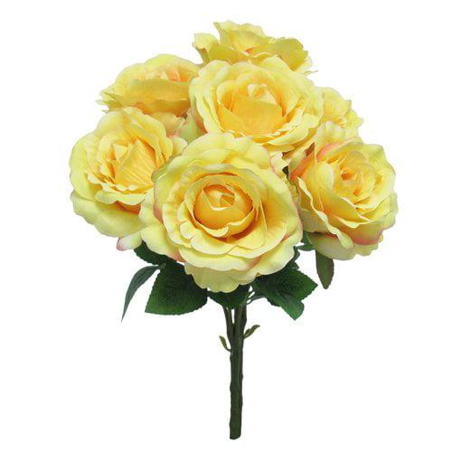 Charlton Home Elegant Bush Roses Floral Arrangement (Set of 3)