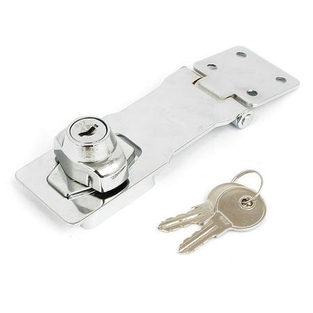 Unique Bargains Home Office Drawer Locking Hasp Door Latch Lock Catch 4 Inch Long w 2 Keys