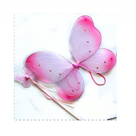 Cutie Collection Fairy Pixie Wings and Wand, Set of 2 Pieces