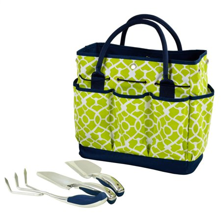 Green Gardening Tote with Tools