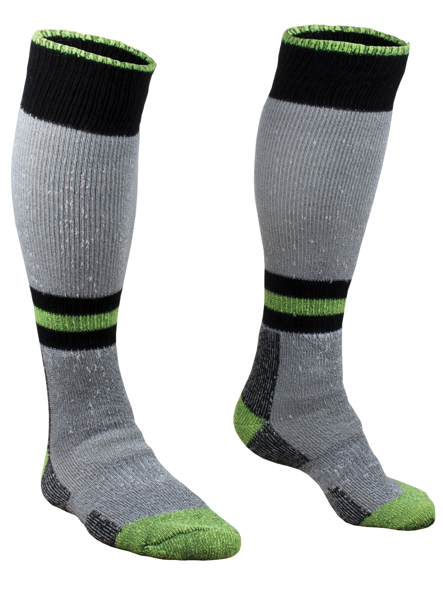 RefrigiWear Men's Cold Weather Moisture Wicking 15-Inch Knee Length Super Sock