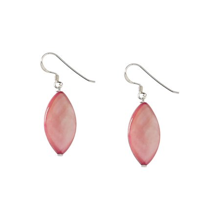 b9e3e095a1201 Pink Mother of Pearl Earrings in Sterling Silver