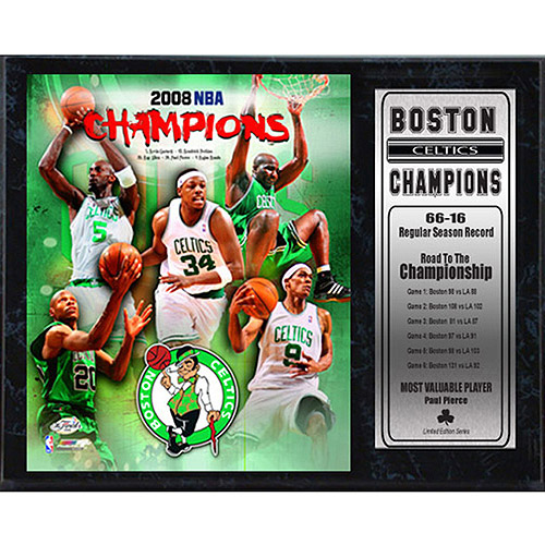 NBA Boston Celtics Champions Stat Plaque, 12x15