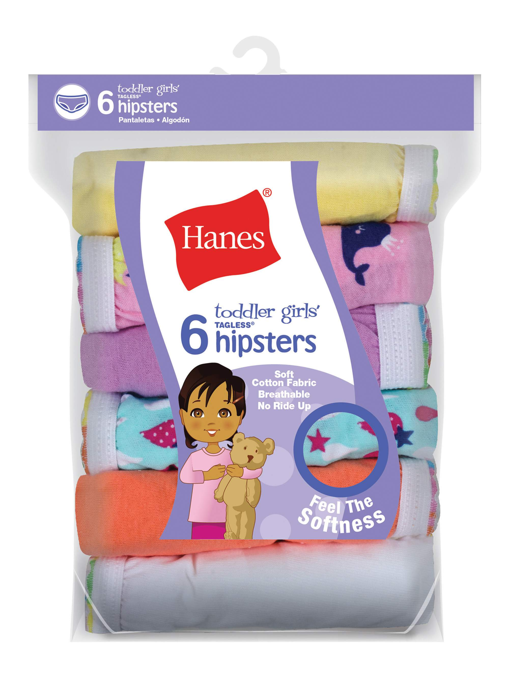 Baby Toddler Girl Hipster Underwear, 6-Pack