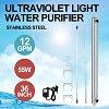 VEVOR 12 GPM +2 Extra Bulbs Ultraviolet Light Water Purifier Whole House Sterilizer Ultraviolet Water Sterilizer