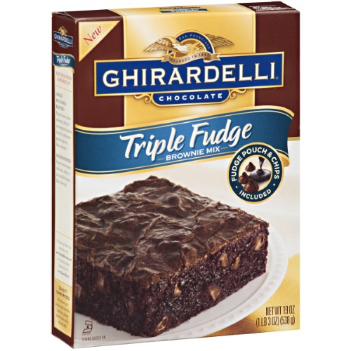 Triple Fudge Premium Brownie Mix (Pack of 6)
