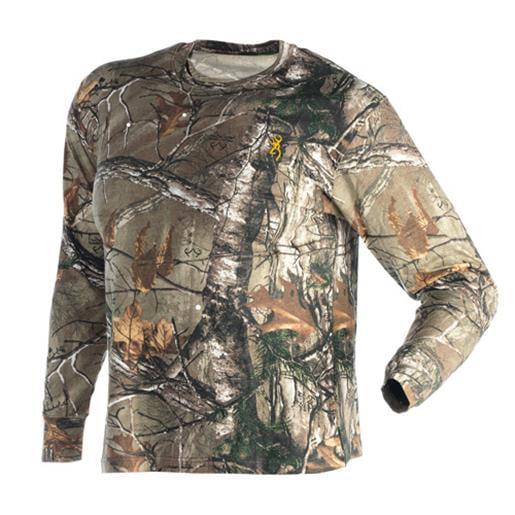 Browning 3011262403 Men's Raeltree Xtra Wasatch Long Sleeve T-Shirt Large