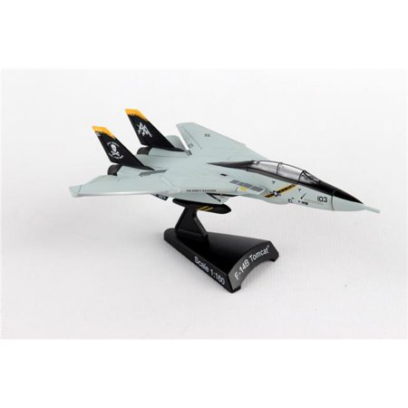 Beach Diecast Stand (Diecast Metal Airplane w/ Stand - F-14 Tomcat VF-103 Jolly Rogers 1/160 Jet )